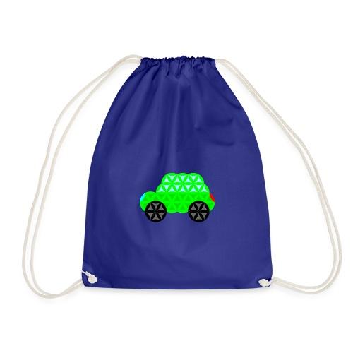 The Car Of Life - M01, Sacred Shapes, Green/R01. - Drawstring Bag