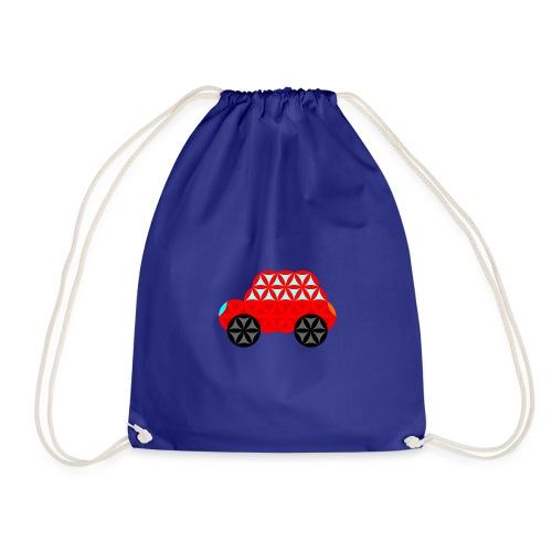 The Car Of Life - M01, Sacred Shapes, Red/R01. - Drawstring Bag