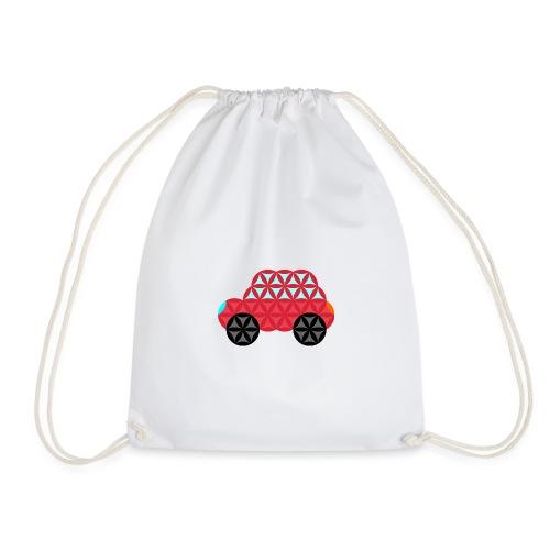 The Car Of Life - M02, Sacred Shapes, Red/186 - Drawstring Bag