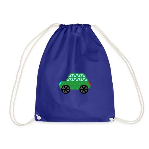 The Car Of Life - M02, Sacred Shapes, Green/363 - Drawstring Bag