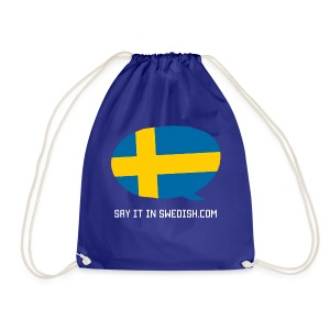 Say It In Swedish - Drawstring Bag