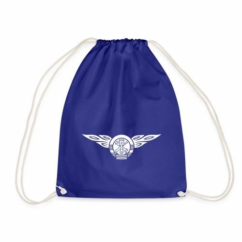 Car flames crest 1c - Drawstring Bag