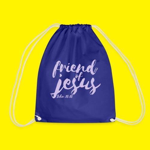 friend of jesus - John 15:15 - Drawstring Bag
