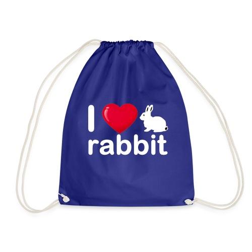 Zu nett Kaninchen i lieben weißes Kaninchen - Turnbeutel