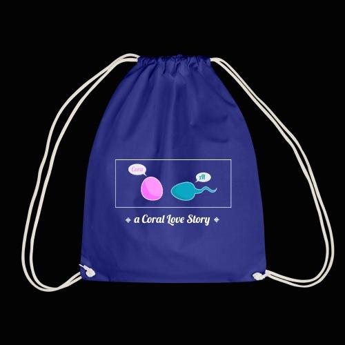 A Coral Love Story - Drawstring Bag