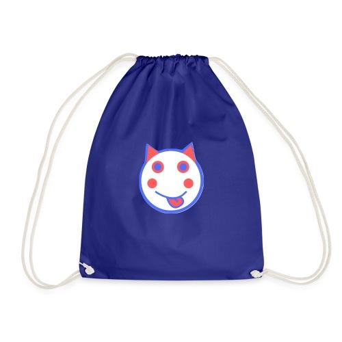 Red White And Blue - Alf Da Cat - Drawstring Bag