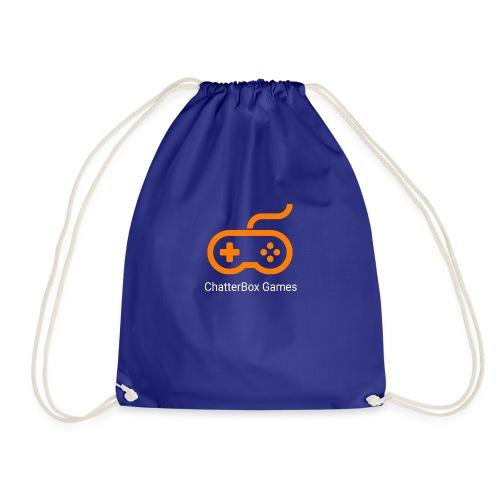 Logo with White Text - Drawstring Bag
