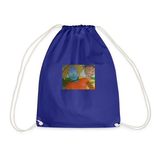 krishna red shirt - Drawstring Bag