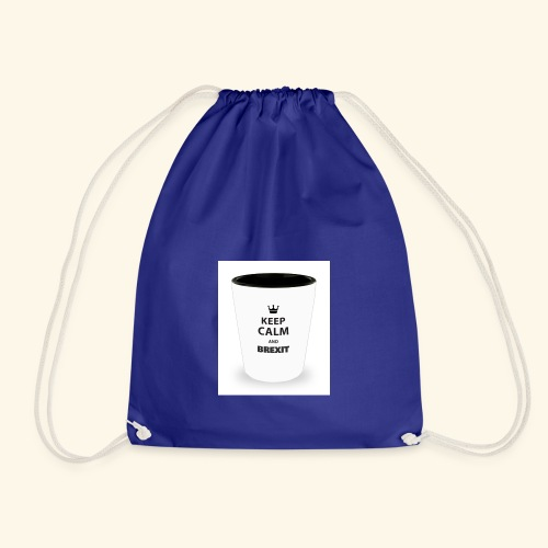 Shot Glass with inscriptions Keep Calm & Brexit - Drawstring Bag