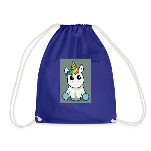 baby unicorn boy - Drawstring Bag