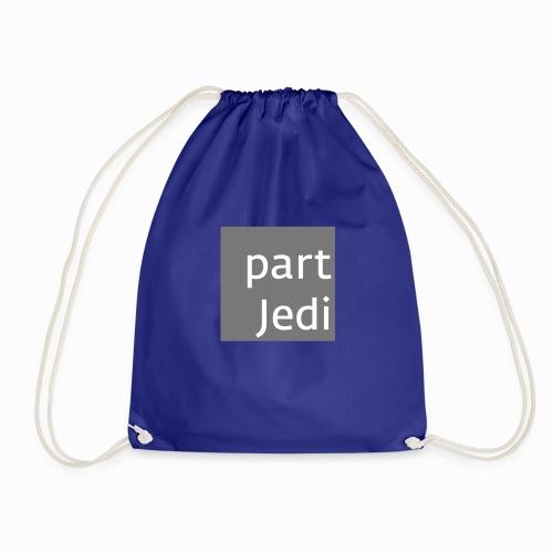 part Jedi white on 50%grey - Turnbeutel