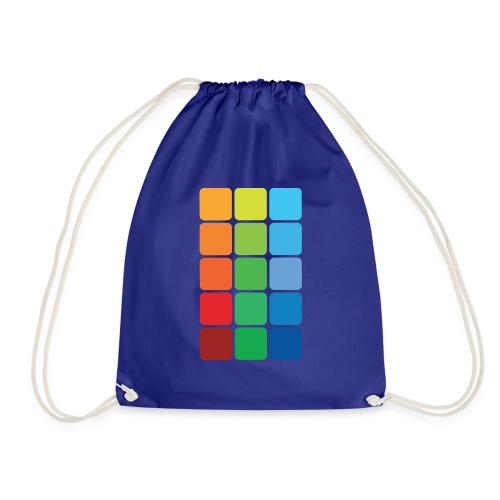 Square color - Drawstring Bag