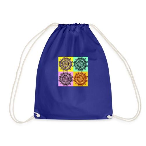 Pop Art Mandala - Drawstring Bag