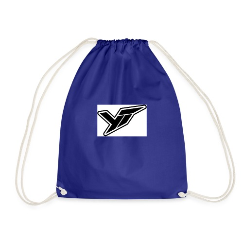 YT LOGO OUTLINE DOPPELT 1 - Drawstring Bag