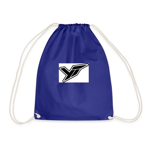 YT LOGO OUTLINE DOPPELT 1 - Drawstring Bag