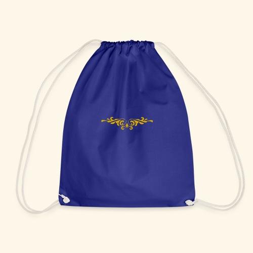 Ilustraccion de un diseño dorado - Mochila saco