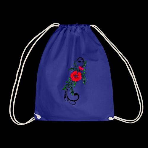 flower art - Drawstring Bag