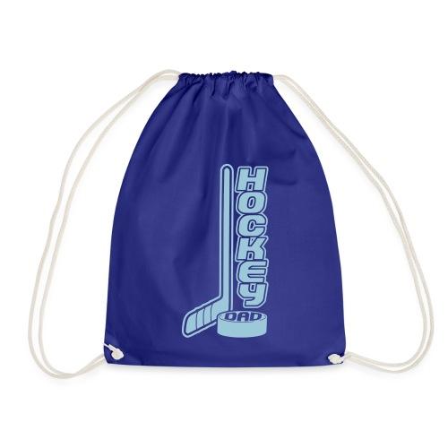 Hockey Dad, Stick & Puck - Drawstring Bag