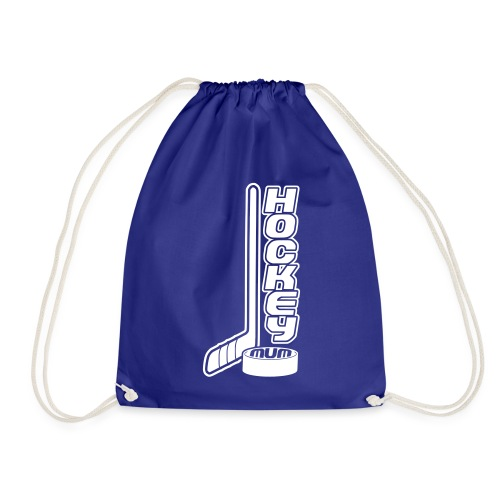 Hockey Mum, Stick & Puck - Drawstring Bag