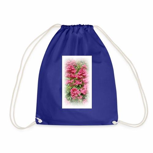 Red Flower - Drawstring Bag