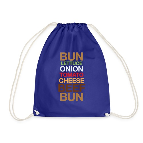 Cheese burger - Drawstring Bag