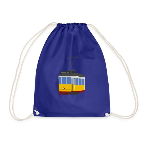 Tram car yellow - Drawstring Bag
