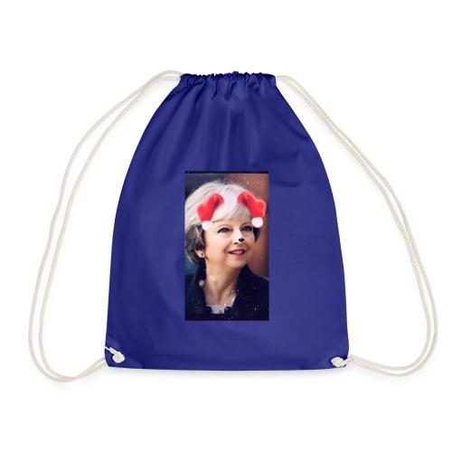 Slap a honking dog filter on it - Drawstring Bag