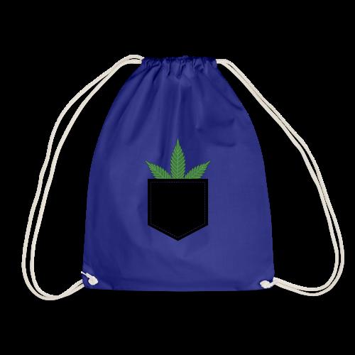 Brusttasche mit Marihuana / Cannabisblatt - Turnbeutel