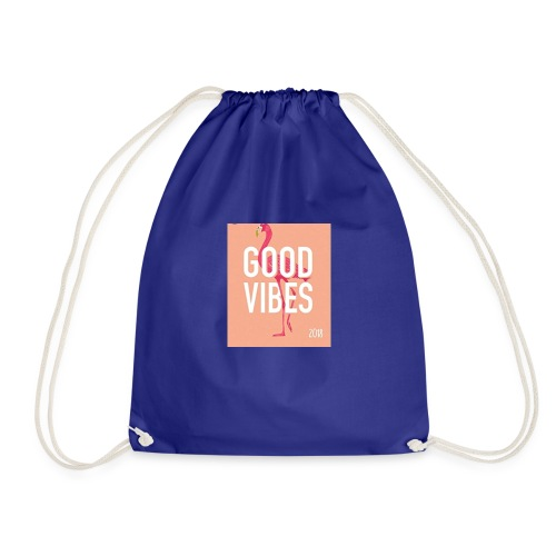 good vibes -Lottie cam - Drawstring Bag