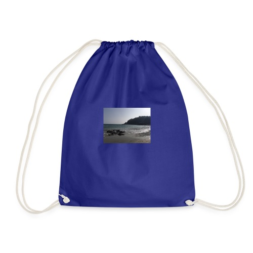 Guernsey Channel Island Beach - Drawstring Bag
