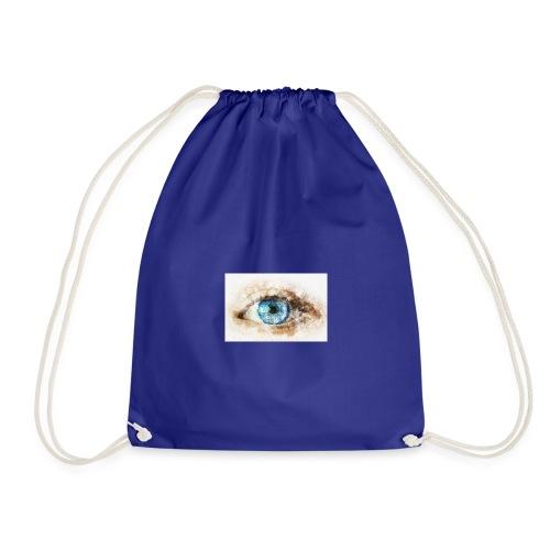 eye-blue-girl-art - Sac de sport léger