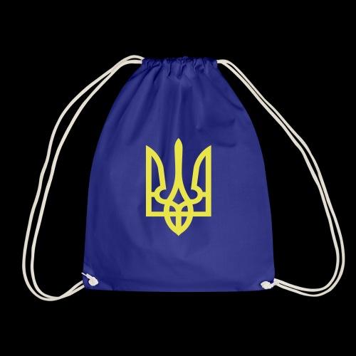 Ukraine Wappen Trident - Turnbeutel