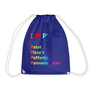 Ik hou van P kindershirt - Gymtas