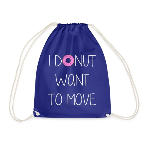 donut want to move white - Turnbeutel