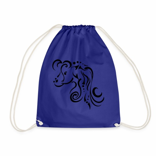 Mare, clean tribal design - Drawstring Bag
