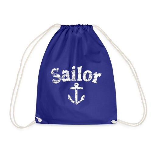 Sailor Anker Segeln Segel Segler (Vintage/Weiß) - Turnbeutel