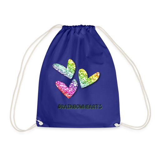 #RAINBOWHEARTS - Drawstring Bag