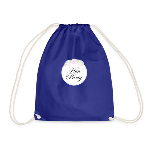 Floral Border Hen Party - Drawstring Bag