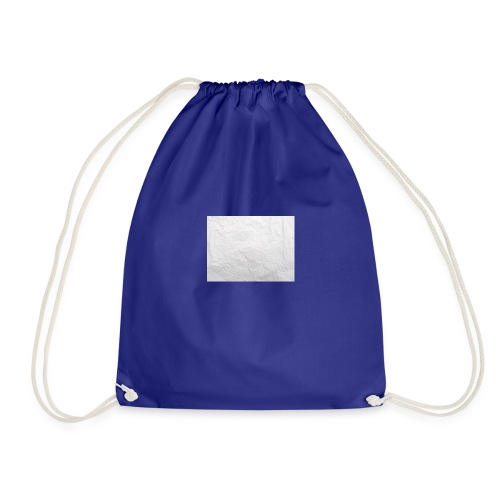 Crumpled White Paper Texture - Drawstring Bag