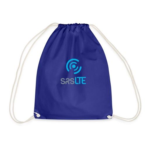 srsLTE grey/blue front vertical - Drawstring Bag