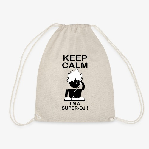 KEEP CALM SUPER DJ B&W - Sac de sport léger
