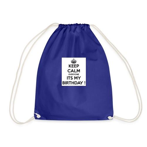 keep_calm_its_my_birthday - Drawstring Bag