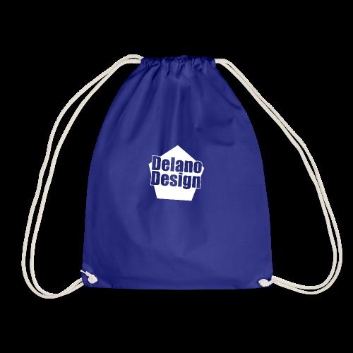 DelanoDesign - Logo Wit - Gymtas