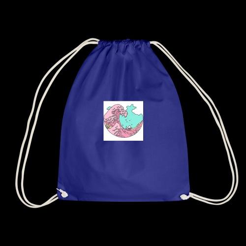 F A D E Wave design 2 - Drawstring Bag