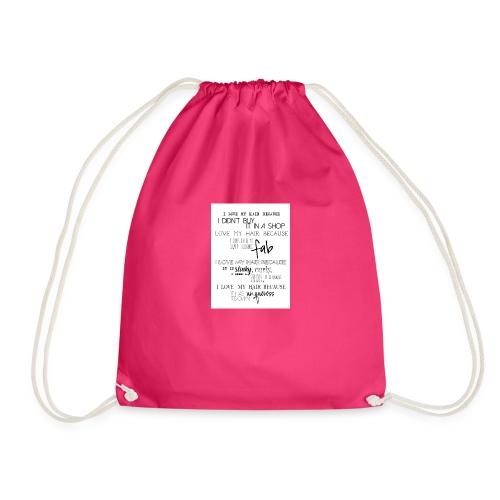 I LOVE MY HAIR - Drawstring Bag