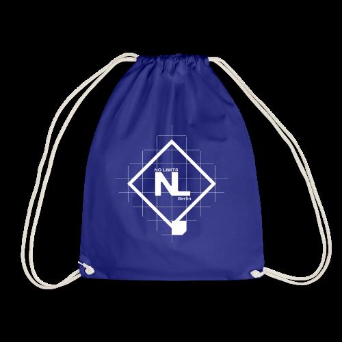 No Limits Logo Weiß - Turnbeutel