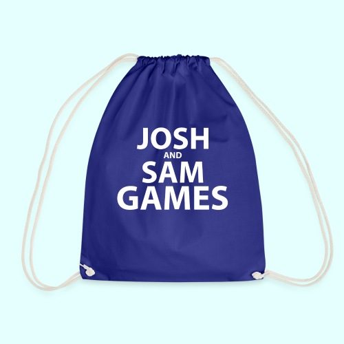 JoshandSamGames Stacked Text - Drawstring Bag
