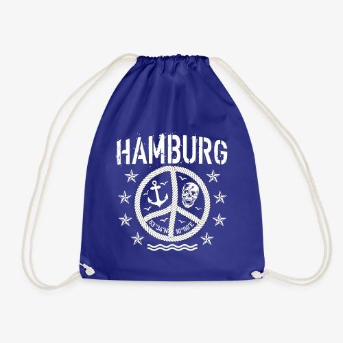 105 Hamburg Peace Anker Seil Koordinaten - Turnbeutel