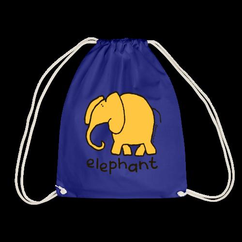 'elephant' - Bang on the door - Drawstring Bag