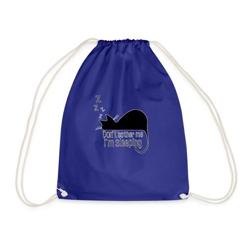 Sleeping cat black - Drawstring Bag